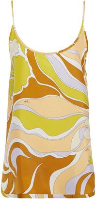 Emilio Pucci Printed Silk-twill Camisole