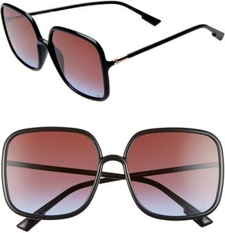 Christian Dior Stellair 59mm Square Sunglasses