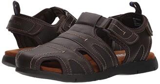 Nunn Bush Rio Grande Fisherman Closed Toe Sandal (Brown) Men's Sandals