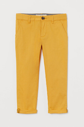H&M Cotton Chinos - Yellow