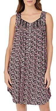 Eileen West Floral Sleeveless Short Gown