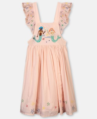 Stella Mccartney Kids Mermaids Embroidery Cotton Dress, Women's