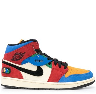 Nike Jordan 1 Fearless colour block sneakers