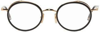 Thom Browne Black and Gold TB-813 Glasses