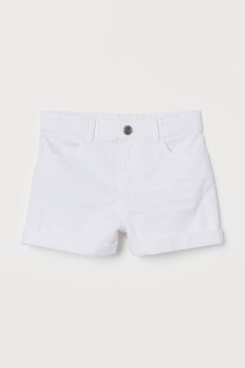H&M Twill Shorts - White