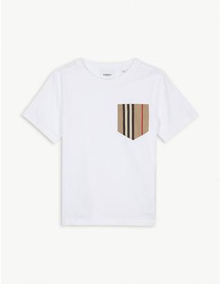 Burberry Icon stripe pocket cotton T-shirt 3-14 years