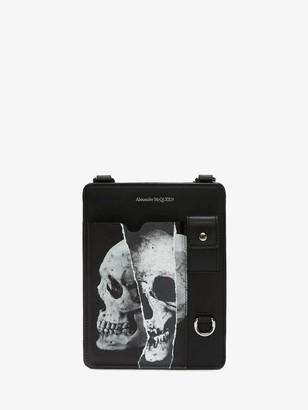 Alexander McQueen Torn Skull Smartphone Case
