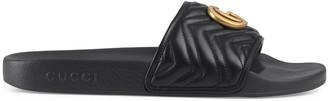 Gucci Men's matelasse leather slide