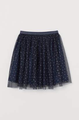 H&M Glittery Tulle Skirt - Blue