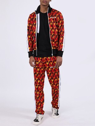 Palm Angels Flame Print Track Jacket