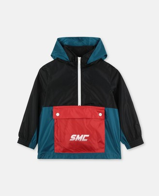 Stella Mccartney Kids SMC Logo Ripstop Jacket, Men's