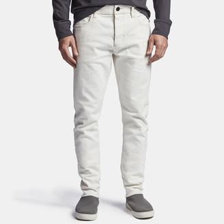 James Perse White Stretch Denim 5-Pocket Pant