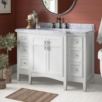 "Luz Birch LaneTM Heritage 48"" Single Bathroom Vanity Set Birch LaneTM Heritage Base Finish: White"