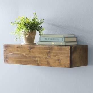 "Laurèl Foundry Modern Farmhouse Jensen Wood Floating Shelf Foundry Modern Farmhouse Size: 5"" H x 22"" W x 8"" D"