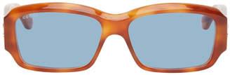 Gucci Tortoiseshell Acetate Rectangular Sunglasses