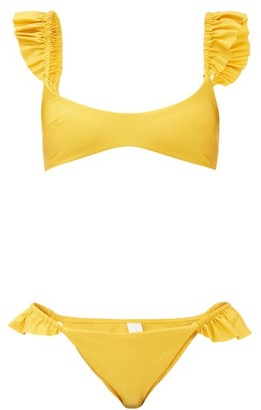 Zimmermann Bonita Frilled-strap Bikini - Yellow