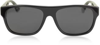 Gucci GG0341S Rectangular-frame Acetate Sunglasses