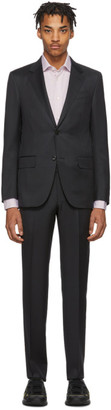 Ermenegildo Zegna Grey Wool Micro Check Milan Suit
