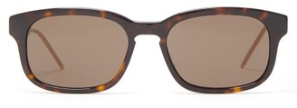 Gucci Rectangular Tortoiseshell-acetate Sunglasses - Mens - Tortoiseshell