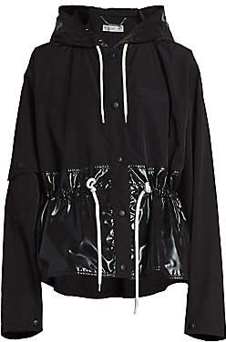 Givenchy Women's Gathered & Hooded Windbreaker