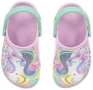 Crocs FunLab Unicorn Clog (Toddler/Little Kid) (Ballerina Pink/New Mint) Kid's Shoes
