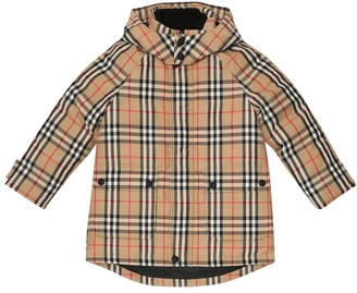 BURBERRY KIDS Vintage Check hooded down coat