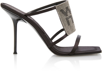 Alexander Wang Julie Crystal-Embellished Satin Sandals
