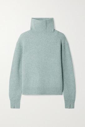 Rag & Bone Pierce Ribbed Cashmere Turtleneck Sweater - Teal
