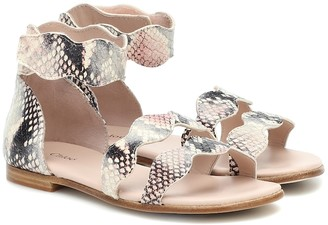 Chloé Kids Snake-effect leather sandals
