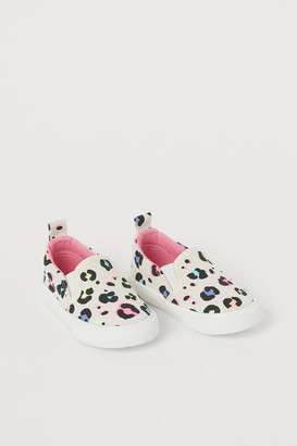 H&M Canvas Slip-on Sneakers - White