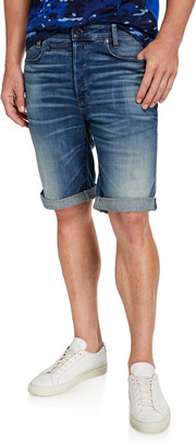 G Star Men's D Staq 12 Oversized-Pocket Denim Shorts