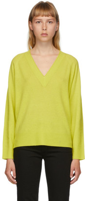 Rag & Bone Green Cashmere Gio V-Neck Sweater