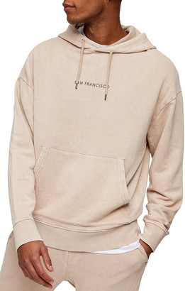 Topman San Francisco Oversize Hooded Sweatshirt