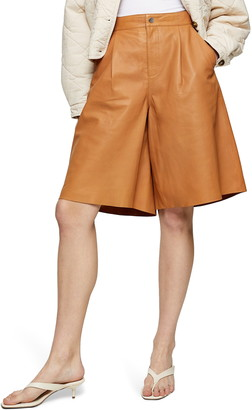 Topshop Leather Culottes