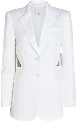 Tibi Soft Suiting Cut-Out Blazer