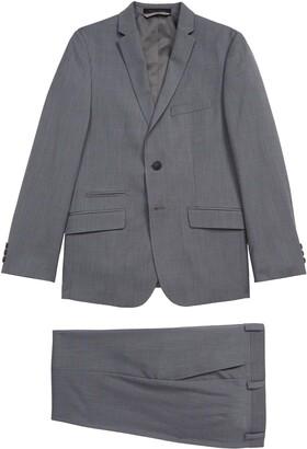 Andrew Marc Windowpane Print Suit