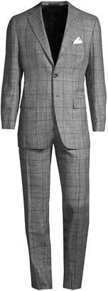 Kiton Plaid Wool Suit