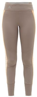adidas by Stella McCartney Snake-print Side-stripe Leggings - Womens - Grey Multi