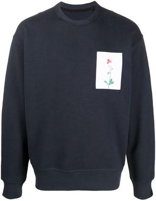 Rag & Bone Floral-Print Crew Neck Sweatshirt