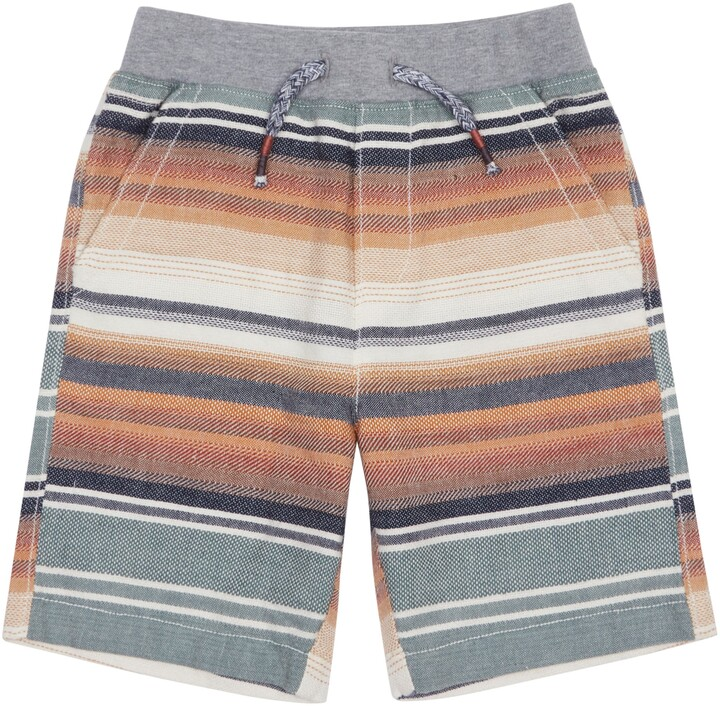 Peek Aren't You Curious Coltan Stripe Drawstring Shorts