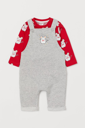 H&M Shirt and Overalls - Red