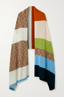 Missoni Striped Wool-jacquard Wrap - Ivory