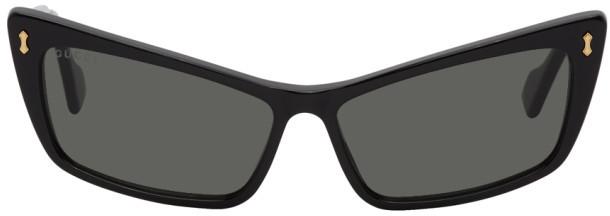 Gucci Black Exaggerated Cat Eye Sunglasses