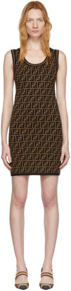 Fendi Black and Brown Knit Forever Dress