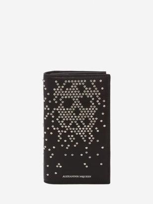Alexander McQueen Studded Leather Folded Long Wallet