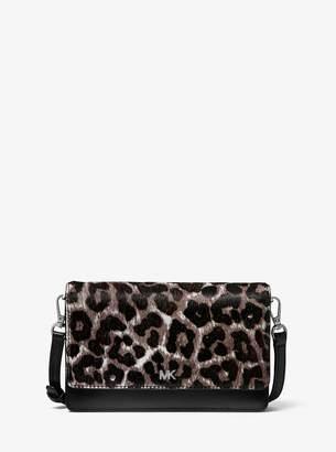 MICHAEL Michael Kors Leopard Calf Hair and Leather Convertible Crossbody Bag