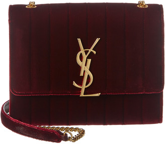 Saint Laurent Mini Vicky Velvet Shoulder Bag