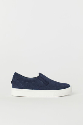 H&M Suede Slip-on Shoes - Blue