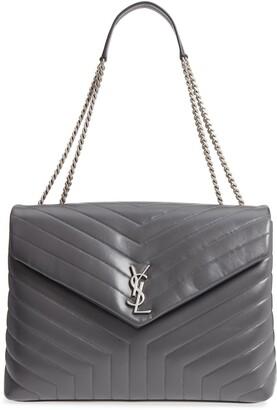 Saint Laurent Large Loulou Matelasse Leather Shoulder Bag