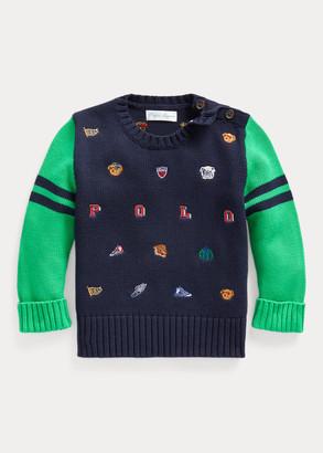 Ralph Lauren Embroidered Crewneck Sweater
